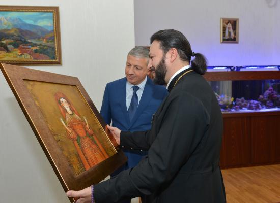 Вячеслав Битаров поздравил епископа Леонида с днем рождения