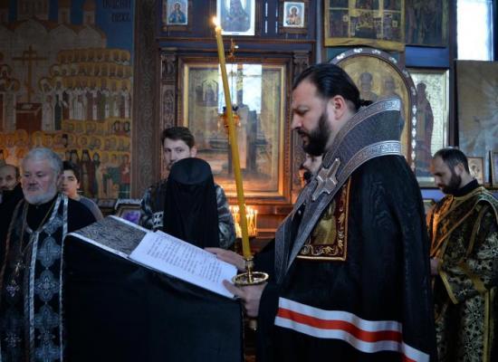 Архиепископ Леонид продолжил чтение канона Андрея Критского в храме Рождества Пресвятой Богородицы г. Владикавказа