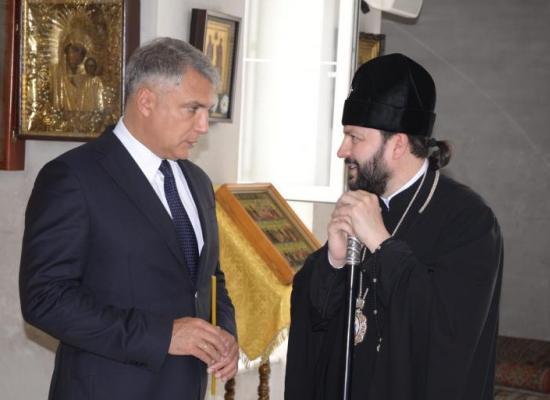 Полпред Президента РФ в СКФО Александр Матовников посетил Кафедральный собор святого Георгия Победоносца
