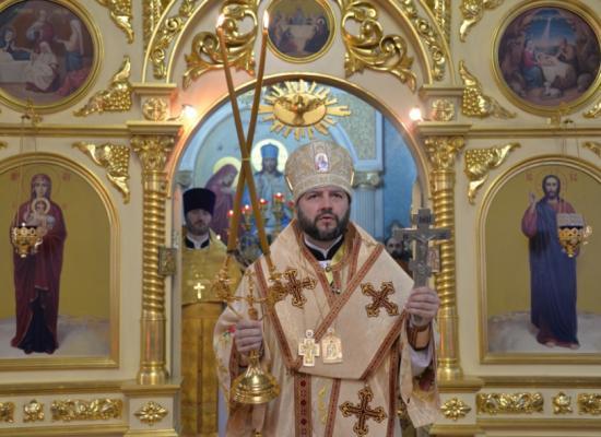 Епископ Леонид возглавил Божественную литургию в храме Покрова Пресвятой Богородицы г. Владикавказа