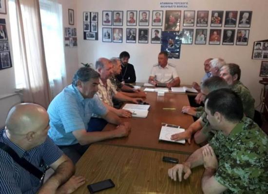 Во Владикавказе состоялся Совет атаманов Аланского республиканского округа ТВКО