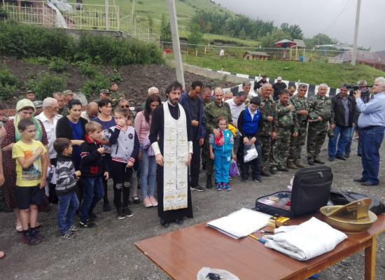 Массовое крещение казаков и членов их семей состоялось в Осетии