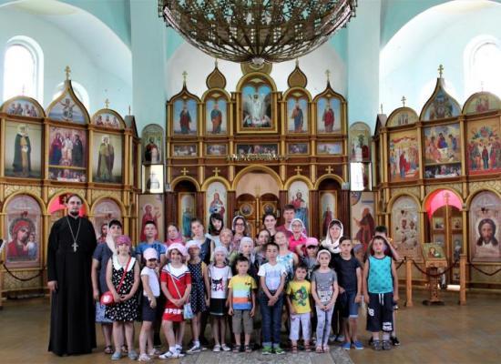 В ст. Луковской закончил работу детский православный лагерь «Сретение»