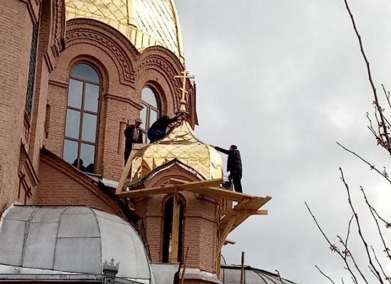 Начат ремонт куполов Георгиевского собора г. Ардона