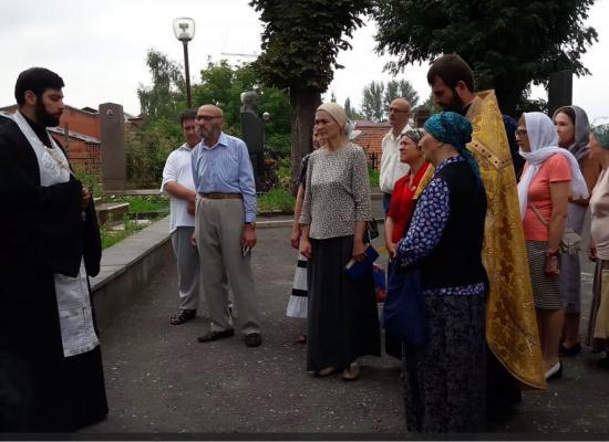 В Осетинской церкви молитвенно вспомнили просветителя Осетии протоиерея Аксо Колиева