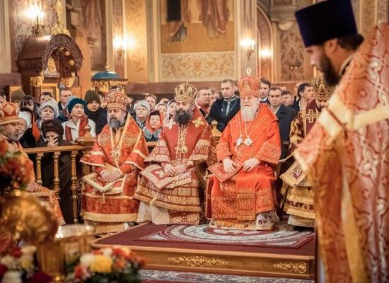 Архиепископ Леонид принял участие в престольном празднике Екатерининского кафедрального собора г. Краснодара