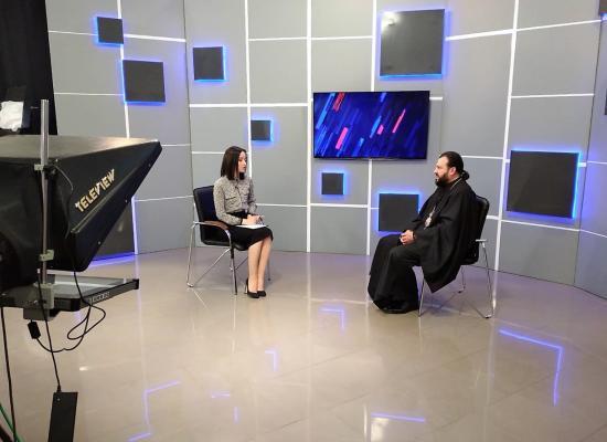 Владыка Леонид в прямом эфире в студии  ГТРК Алания