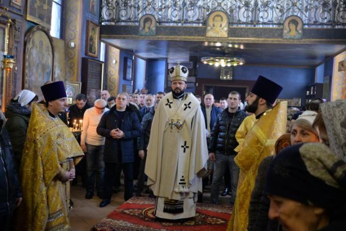 В Неделю мясопустную Архиепископ Леонид совершил Литургию в Осетинской церкви