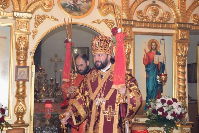 Архиепископ Леонид возглавил торжественное богослужение в Кафедральном соборе Георгия Победоносца в праздник Светлого Христова Воскресения