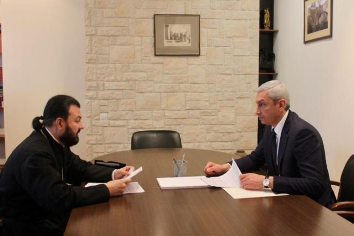 Архиепископ Леонид и полпред Борис Джанаев провели рабочую встречу в Москве