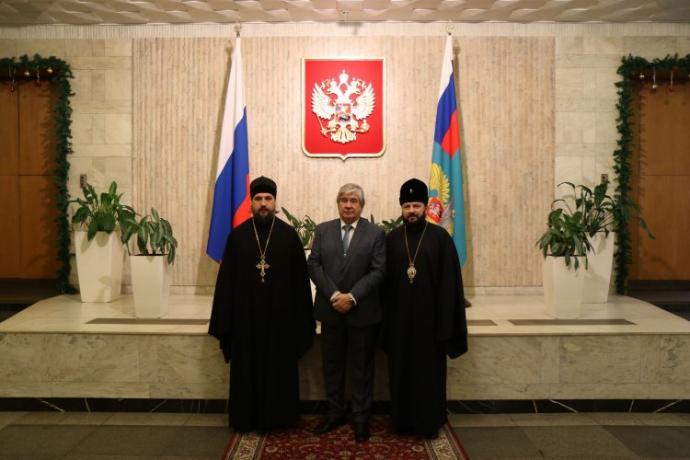 Заместитель председателя ОВЦС архиепископ Владикавказский и Аланский Леонид встретился с послом РФ в Болгарии