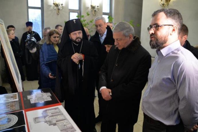 Во Владикавказе представили проект росписи и иконостаса Кафедрального собора Георгия Победоносца