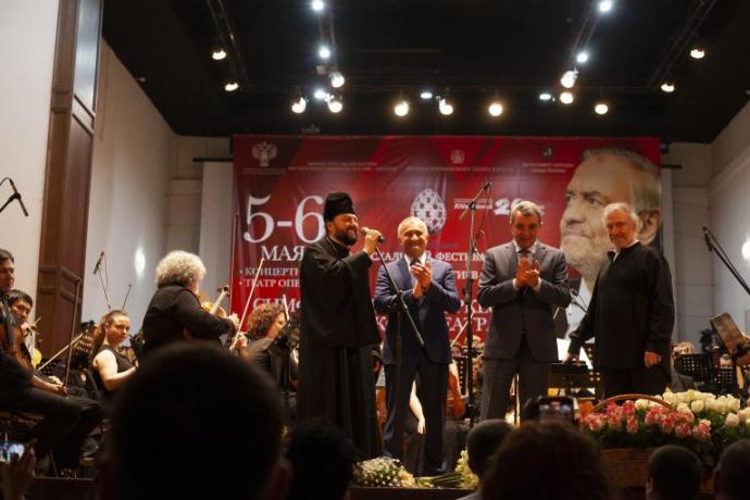 Архиепископ Леонид приветствовал музыкантов и зрителей на концерте в рамках XX Московского Пасхального фестиваля
