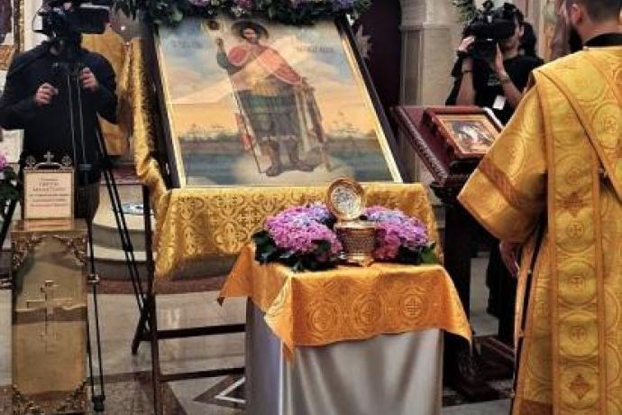 Расписание пребывания мощей святого Александра Невского в храмах епархии