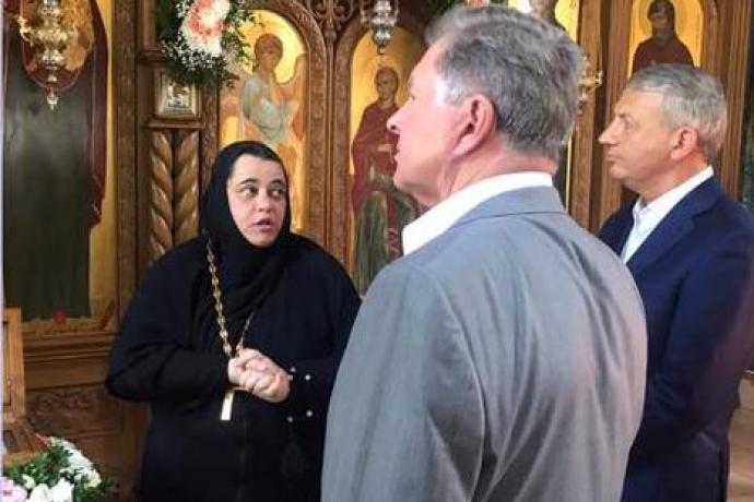 Полпред Президента в СКФО О.Е. Белавенцев посетил Аланский Богоявленский женский монастырь