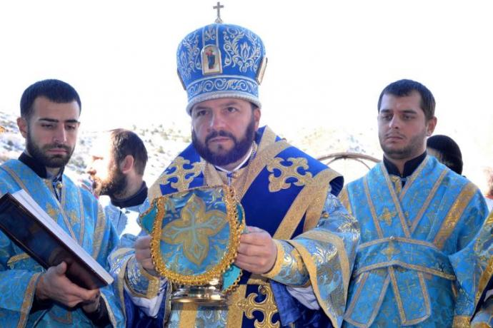 Епископ Леонид совершил освящение храма Казанской иконы Божией матери с. Нижний Зарамаг