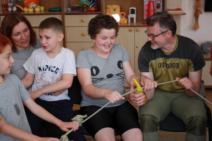 В Аланском Богоявленском женском монастыре завершил работу лагерь для детей с нарушениями развития